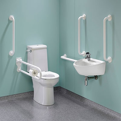 Toilets for people with special needs at B&M