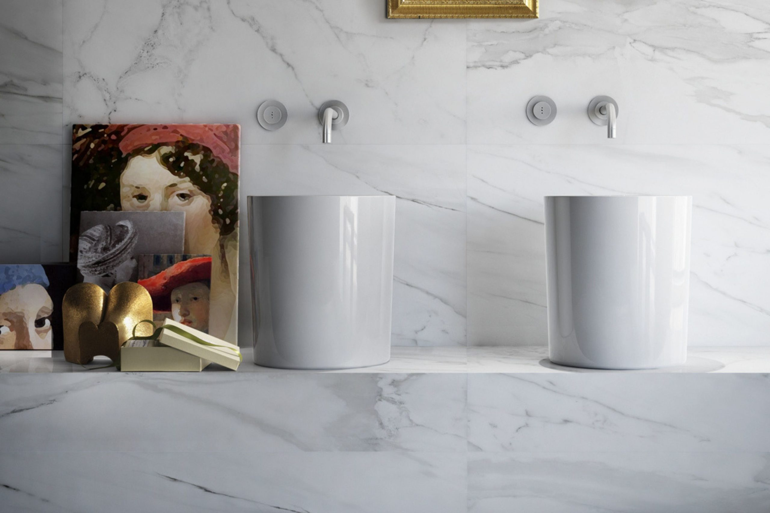 Marble tiles for bathrooms in Malta