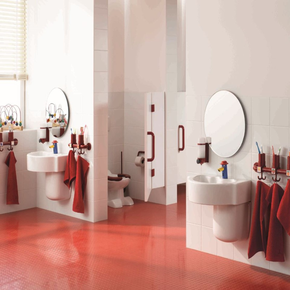 Bathrooms for people with special needs at B&M
